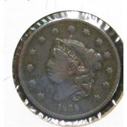 1835 U.S. Large Cent, VG.