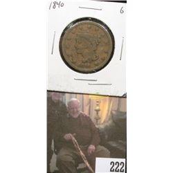 1840 U.S.. Large Cent, Good.