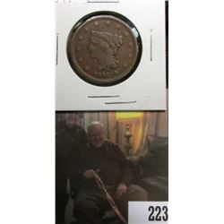 1841 U.S.. Large Cent, Good.to VG, some reverse damage.