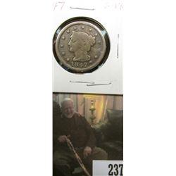 1847 U.S.. Large Cent, Good-VG.