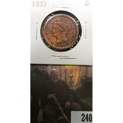 1851 U.S.. Large Cent, Good.