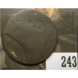 1798 U.S. Large Cent, Error strike.