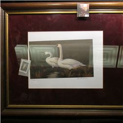 "19.25"" x 23.5"" Framed Iowa Ducks Unlimited Eleventh Annual Sponsor Print and Stamp. Signed by Artist"