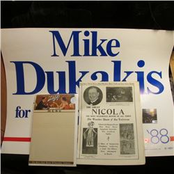 "19"" x 25"" Poster ""Mike Dukakis for President '88""; 19"" x 25"" Poster ""For the Boy Scouts of America b"