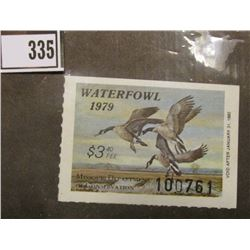 1979 Missouri Number 1 Migratory Waterfall Stamp #100761, Mint, unsigned or used, originally valued