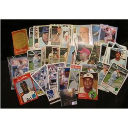 """Bill Zuber"" Match Book and a nice selection of Baseball Cards dating back to 1963."