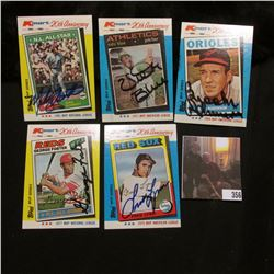 Personally autographed 1982 Kmart Baseball Cards: 1977 MVP George Foster; 1964 MVP Brooks Robinson;