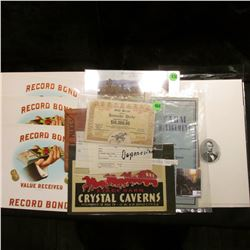 "(10) Cigar Box Labels ""Record Bond Value Received Record Bond""; ""Druggists' Mutual Insurance Co. of"