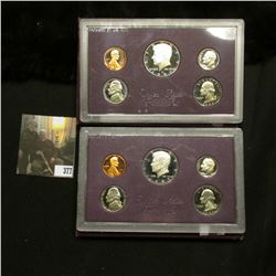 1985 S & 86 S U.S. Proof Set. Original as issued.