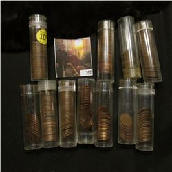 Mixed Group of Partial Rolls of Lincoln Cents, includes a full roll of 1913 P. maybe 250 coins total