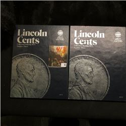 (2) Partial Sets of 1975 up Lincoln Cents in Whitman folders, includes several AU-BU coins.