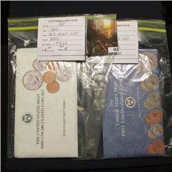 1989 & 1991 U.S. Mint Sets. Original as issued.