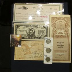 """July 1, 22 """"Official Receipt Fraternal Order of Eagles…Iowa City, Iowa""""; group of Shaw Aircraft, Iow"""