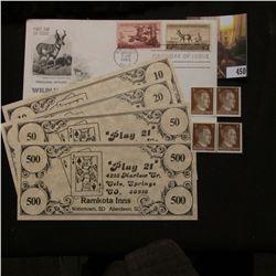 "Set of $10, $20, $50 & $500 Scrip from ""Ramkota Inns"" Colorado & South Dakota Scrip; (4) Three Pfenn"