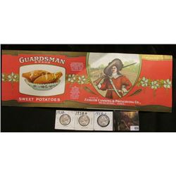"Unused label ""Guardsman Brand Sweet Potatoes…Packed by Zeigler Canning & Preserving Co., Muscatine,"