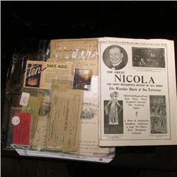 """The Great Nicola The Most Delightful Mystic of All Times The Wonder Show of the Universe"" 8-page br"