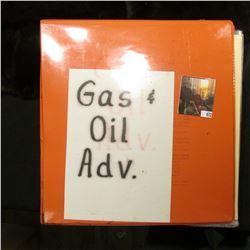 Notebook full of Gas & Oil Advertising Memorabilia.