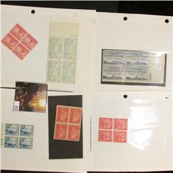 Scott 785 Plateblock (Mount Vernon); block of four Series 1898 Two Cent Documentary Stamps; Block of