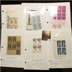 1962-65 Plate Blocks of Four Scott #1191, 1193, 1195, 1197, 1198, 1200, pair of 1203, 1206, 1232, 12