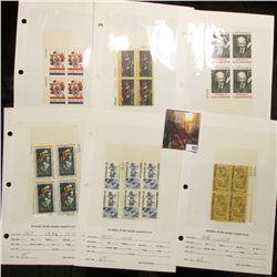 1966-71 Plate Blocks of Four Scott # 1309, 1335,1383,1386-1391, pair 1406, pair 1407, 1409, 1420, &
