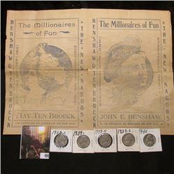 "Original Program from ca. 1899 ""The Millionaires of Fun Henshaw & Ten Broeck"", John E. Henshaw died"