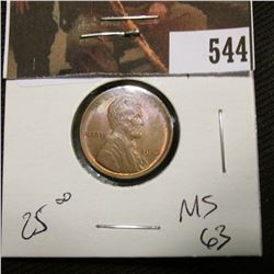 1-1916 Lincoln Cent MS 63
