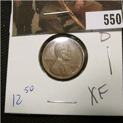 1-1918 D Lincoln Cent XF
