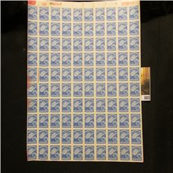 """Original Sheet of 100 """"West Virginia Liquor Control Commission"""" printed by the American Bank Note Co"""