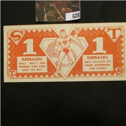 """""""Superman Redback 1 """"Spend"""" This Redback at your Superman Tim Store"""", """"Redbacks Will """"Buy"""" The Thing"""