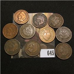 (10) Various Date & Grade Indian Head Cents.