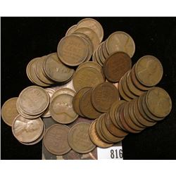 1909 P Solid date Roll of Lincoln Cents. (51) Pieces.  Most Fine to VF.