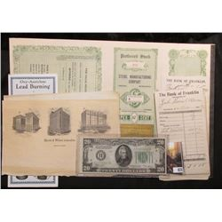 """Unissued """"Preferred Stock Certificate with Coupons from """"Steril Manufacturing Company Omaha, Nebrask"""