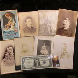 "(7) late 1800 era Black & White photos from Iowa City, Iowa; booklet ""Molasses and Syrup Secrets Com"