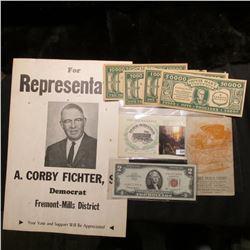 "Political Sign ""For Representative A. Corby Fichter, Sr. Democrat Fremont-Mills District Your Vote a"
