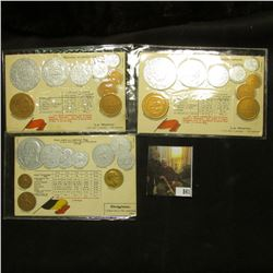"""(4) Blocks of Four Sun Yat-Sen U.S. Postage Stamps; (2) Post cards from """"Le Maroc"""" depicting their c"""