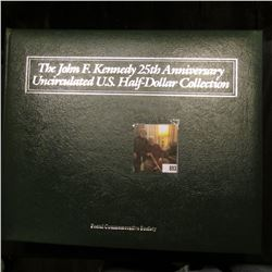 """Postal Commemorative Society"" album titled ""The John F. Kennedy 25th Anniversary Uncirculated U.S."