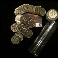 (34) 1954 P Jefferson Nickels in Gem BU condition, stored in a plastic tube.