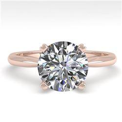 2 CTW Certified VS/SI Diamond Engagement Ring 14K Rose Gold - REF-1012Y5N - 38472