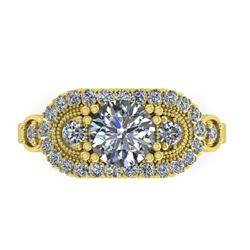 1.75 CTW Solitaite Certified VS/SI Diamond Ring 14K Yellow Gold - REF-450W8H - 38552