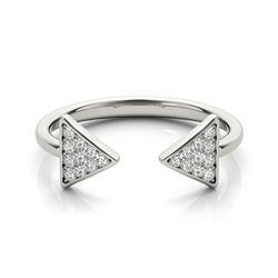 0.25 CTW Certified VS/SI Diamond Designer Fashion Ring 18K White Gold - REF-48F9M - 28301