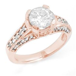 2.06 CTW Certified VS/SI Diamond Ring 14K Rose Gold - REF-485H8W - 14182