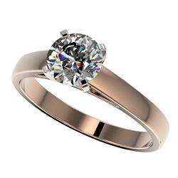 1.26 CTW Certified H-SI/I Quality Diamond Solitaire Engagement Ring 10K Rose Gold - REF-231H8W - 365