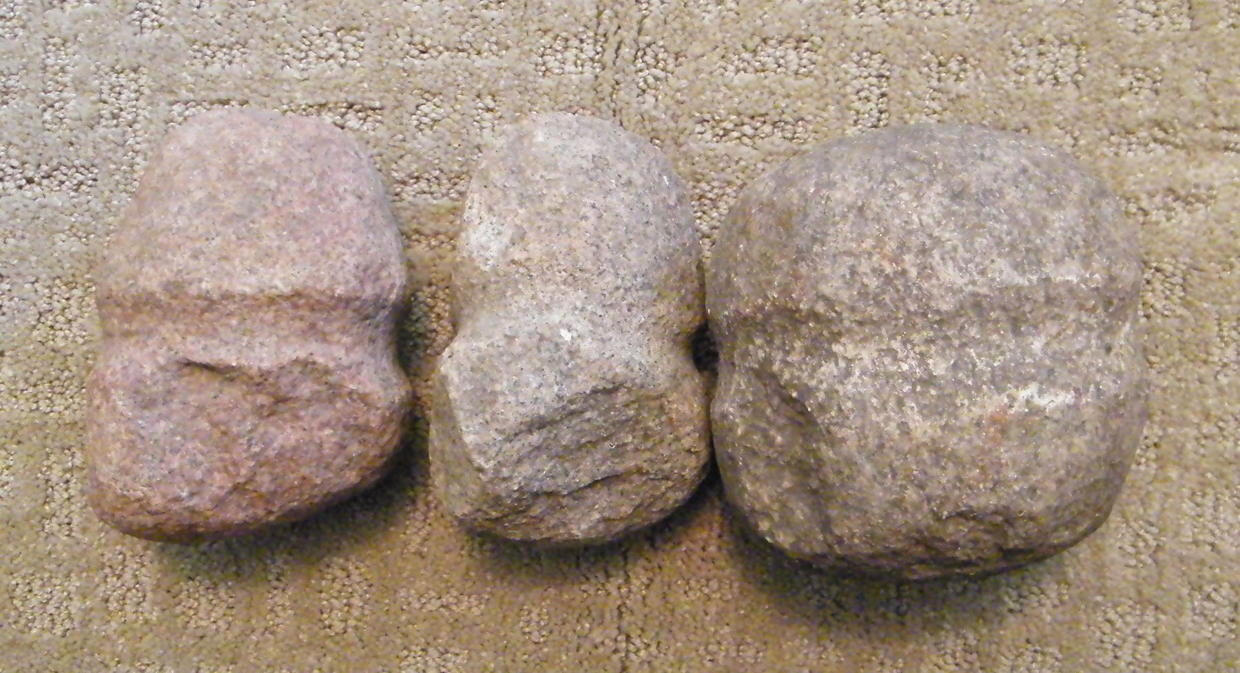 3 Indian Stone hammers