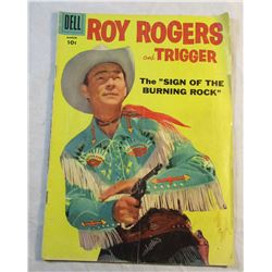 """1958 Roy Rogers and Trigger The """"Sign of the Burning Rock"""" Comic Book Volume 1  No. 123"""