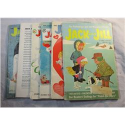 Lot of 6 Vintage Jack and Jill Magazines 1957-1962