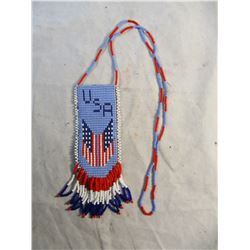 Beaded Native American USA Necklace