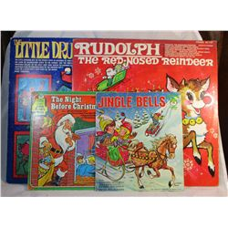Lot of 4 Vintage Christmas Vinyl Records