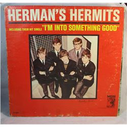 """Herman's Hermits Including Their Hit Single """"I'm Into Something Good"""" Vintage LP Vinyl Record"""
