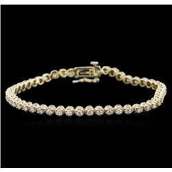 14KT Yellow Gold 2.00 ctw Diamond Tennis Bracelet