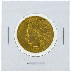 1915 $10 Indian Head Gold Coin XF